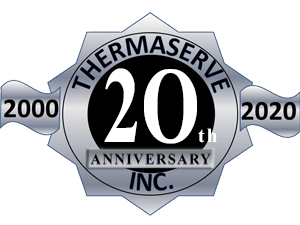 ThermaServe 20th anniversary icon badge
